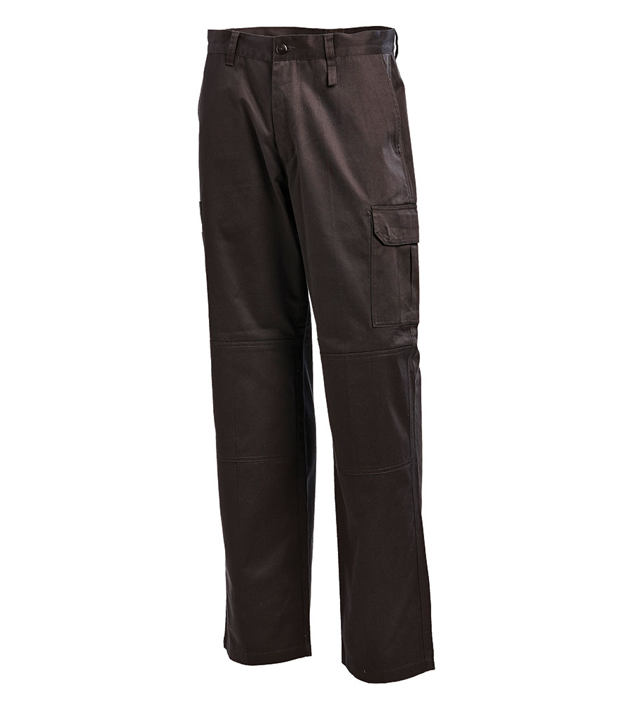 PANT CARGO BLACK L/WEIGHT 107S 100% COTTON 240G