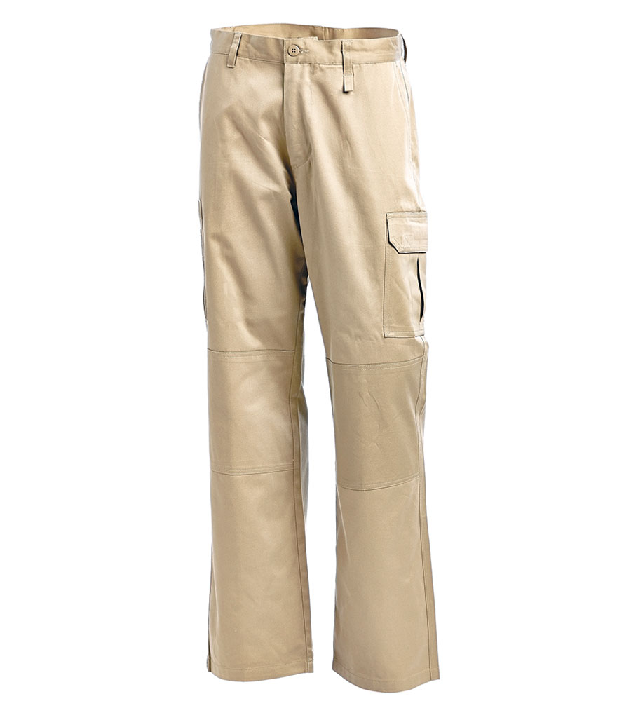 PANT CARGO KHAKI L/WEIGHT 97S 100% COTTON 240G