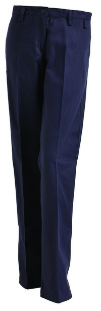 PANT LADIES DRILL NAVY S10 100% COTTON DRILL 310G PRESHRUNK