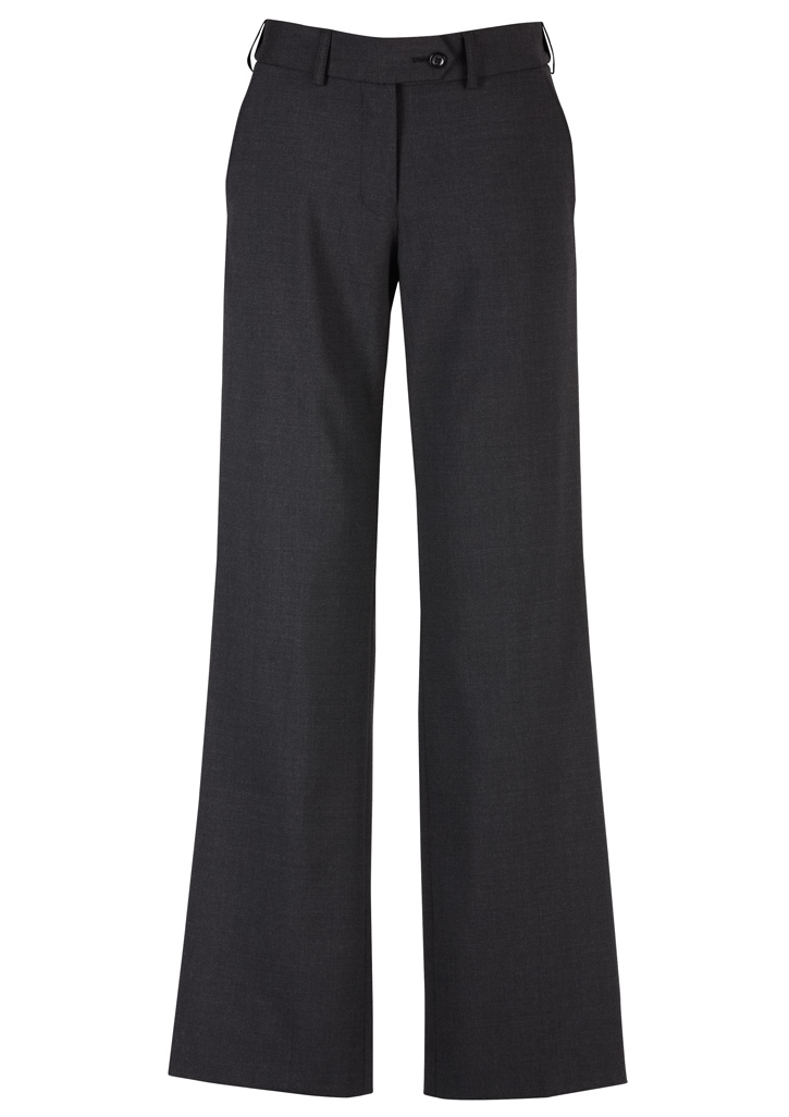 PANT LADIES MID RISE CHARCOAL S10 ADJUSTABLE WAIST