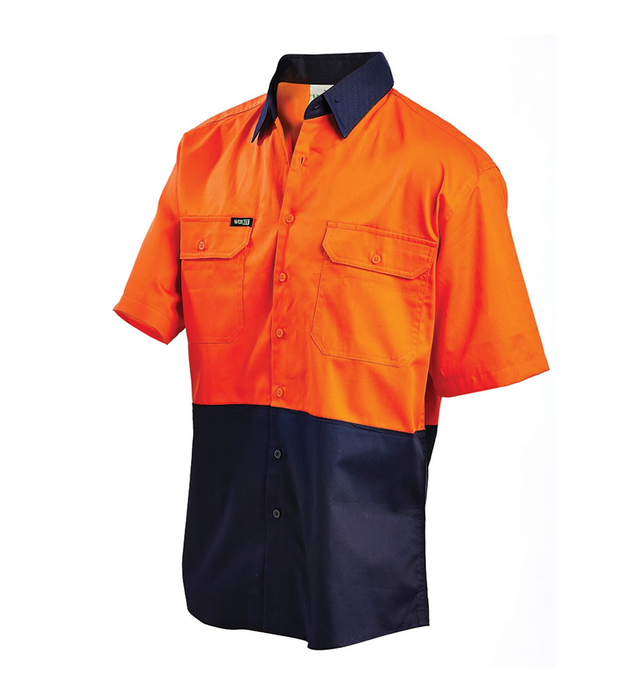 SHIRT HI VIS LIGHTWEIGHT S/S ON 2XL VENTED 155G