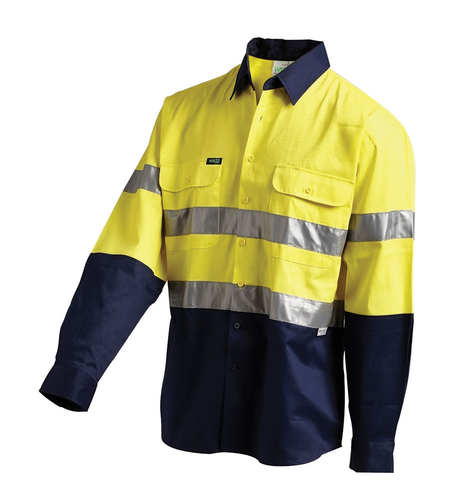 SHIRT HI VIS RIPSTOP Y/N 2XL 3M BREATHABLE TAPE, VENTED 145G