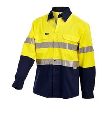 SHIRT HI VIS REGULAR L/S YN 2XL REF TAPE, ADJUST CUFF, 190G