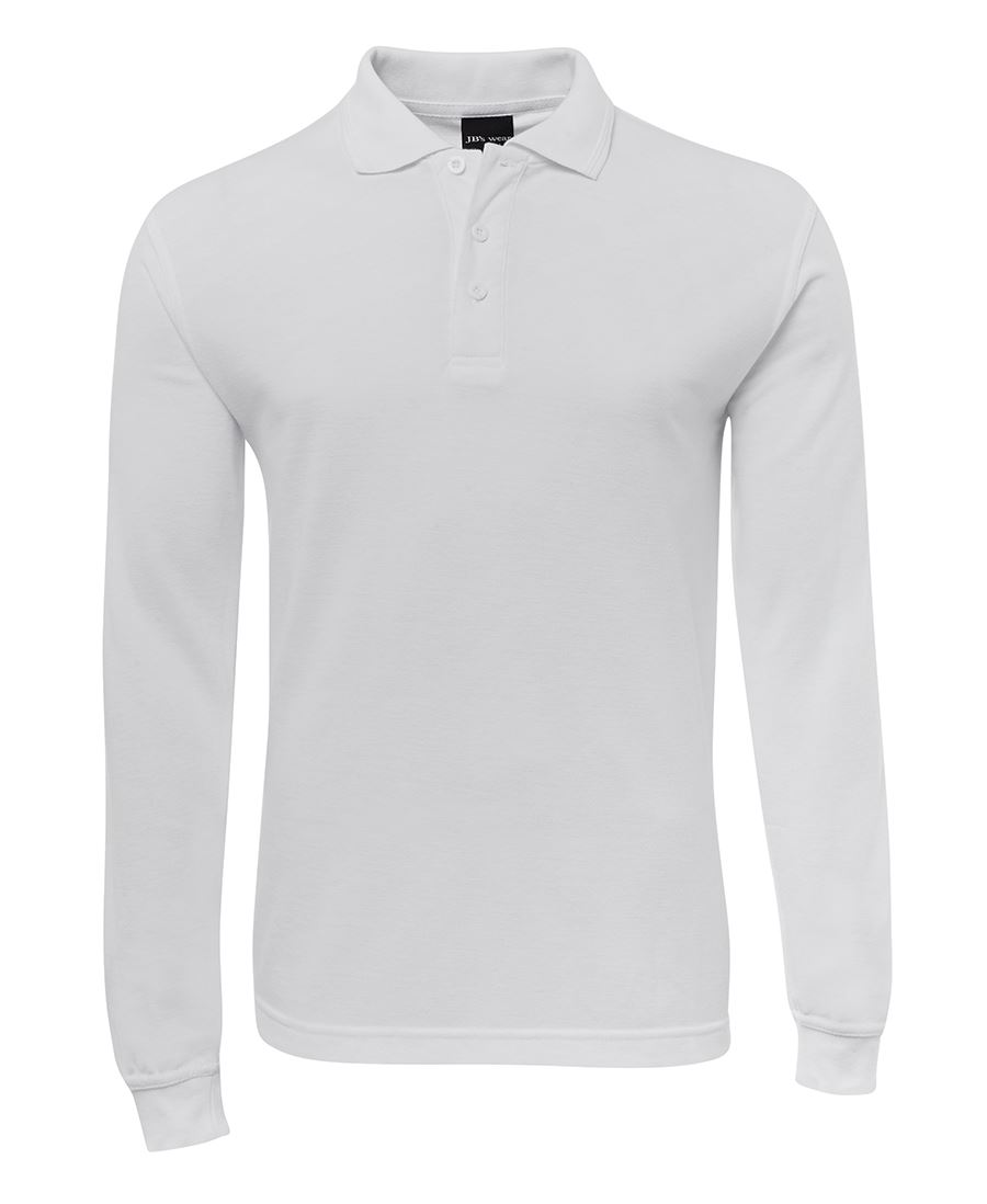 POLO SIGNATURE L/S WHITE 2XL