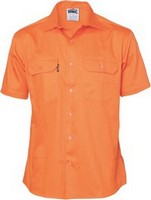 SHIRT S/S C/DRILL ORANGE L