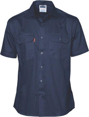 SHIRT S/S L/WEIGHT DRILL NAVY L