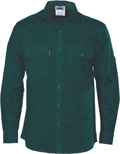 SHIRT L/S COOLBREEZE GREEN SIZE 2XL