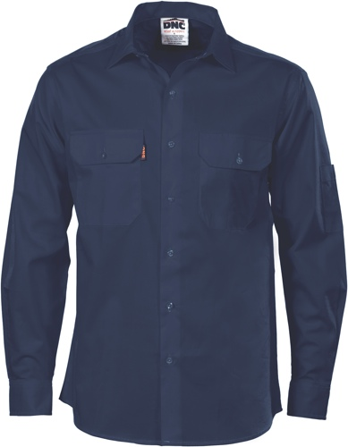 SHIRT L/S COOLBREEZE NAVY SIZE 2XL