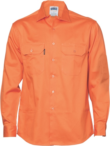 SHIRT COOLBREEZE L/S ORANGE 2XL