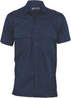 SHIRT S/S COOLBREEZE NAVY LARGE