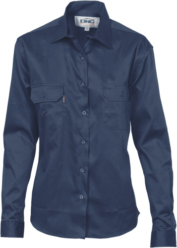 SHIRT LADIES NAVY DRILL S24 -