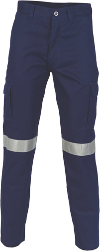 TROUSER CARGO C/DRILL TAPED NAVY SIZE 102R