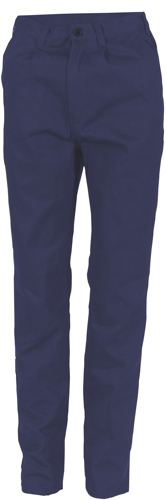 TROUSER LADIES C/DRILL NAVY SIZE 10