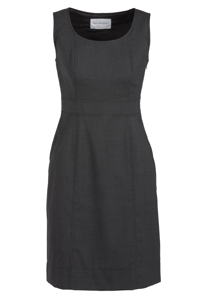 DRESS LADIES CHARCOAL SIZE 10 SLEEVELESS