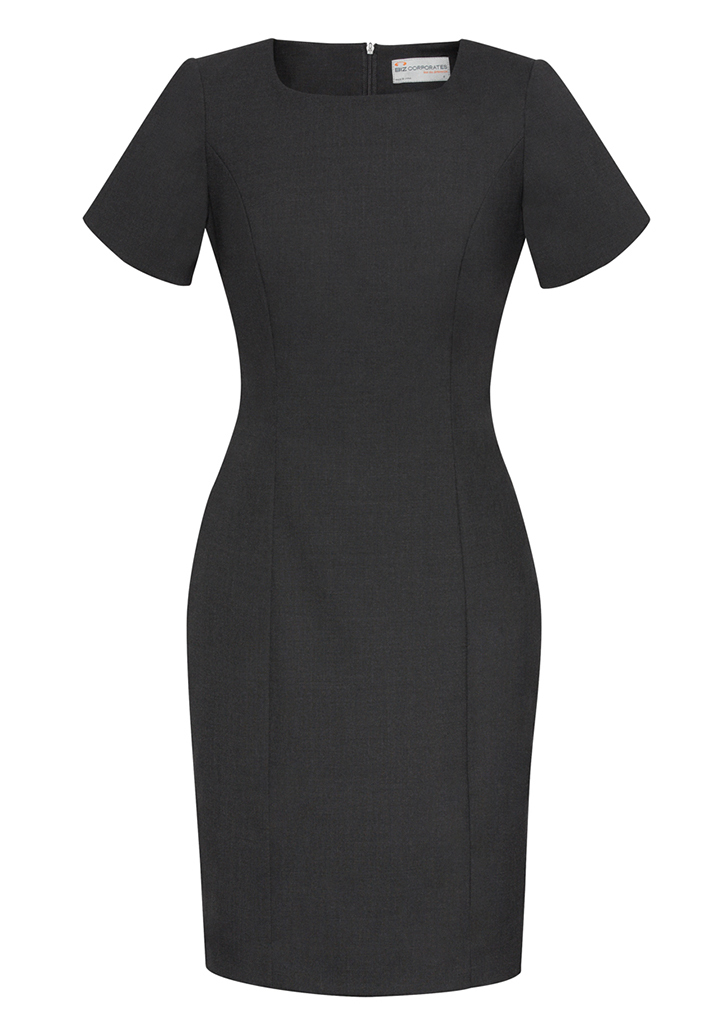 DRESS LADIES S/S CHARCOAL SIZE 10 -