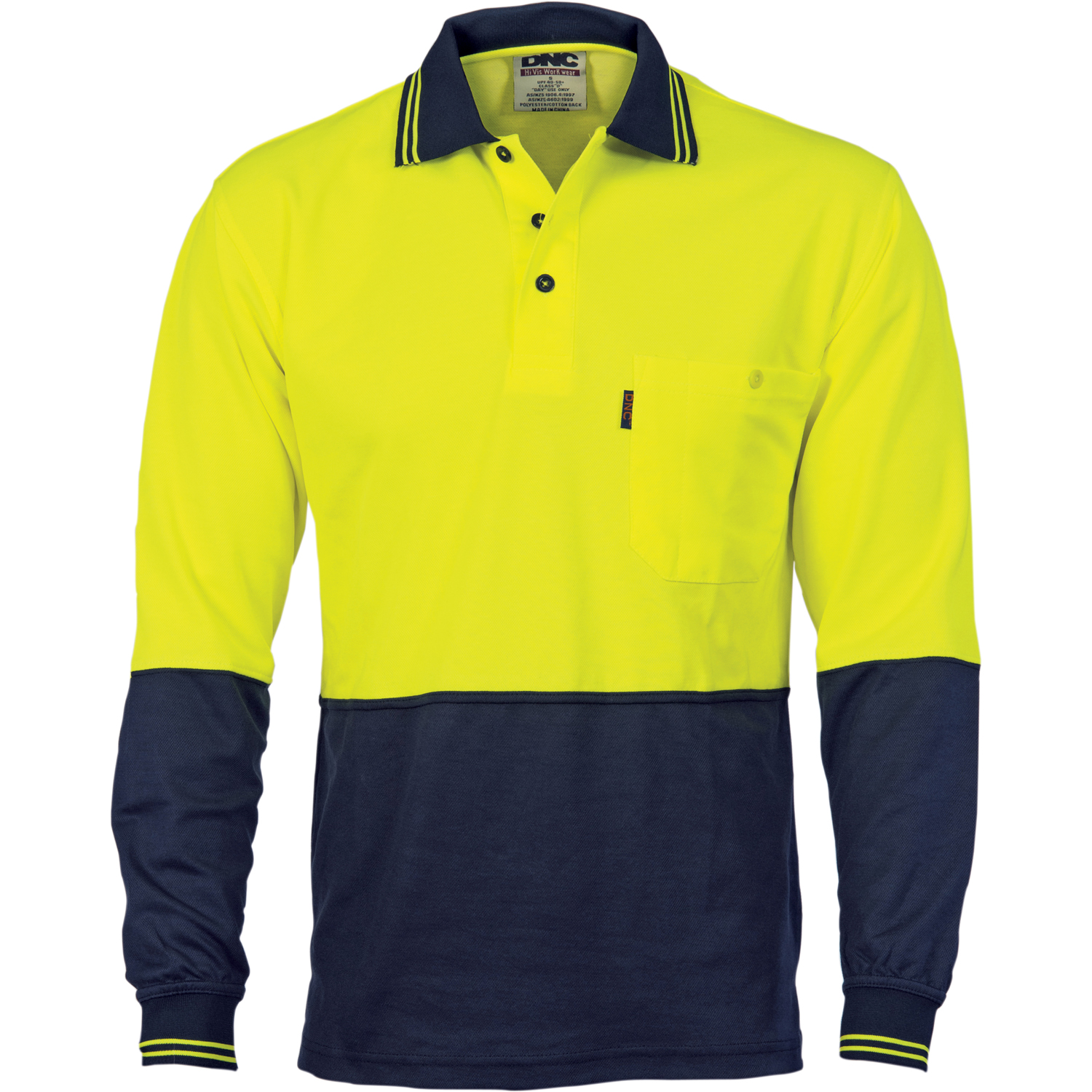 POLO L/S COTTON BACK Y/N SIZE 2XL