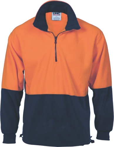 JUMPER 1/2 ZIP FLEECE O/N SIZE 2XL