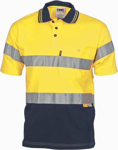 POLO S/S COTTON JERSEY TAPED Y/N  SIZE 2XL