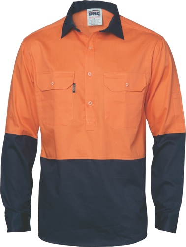 SHIRT C/BREEZE C/F ORANGE/NAVY 2XL