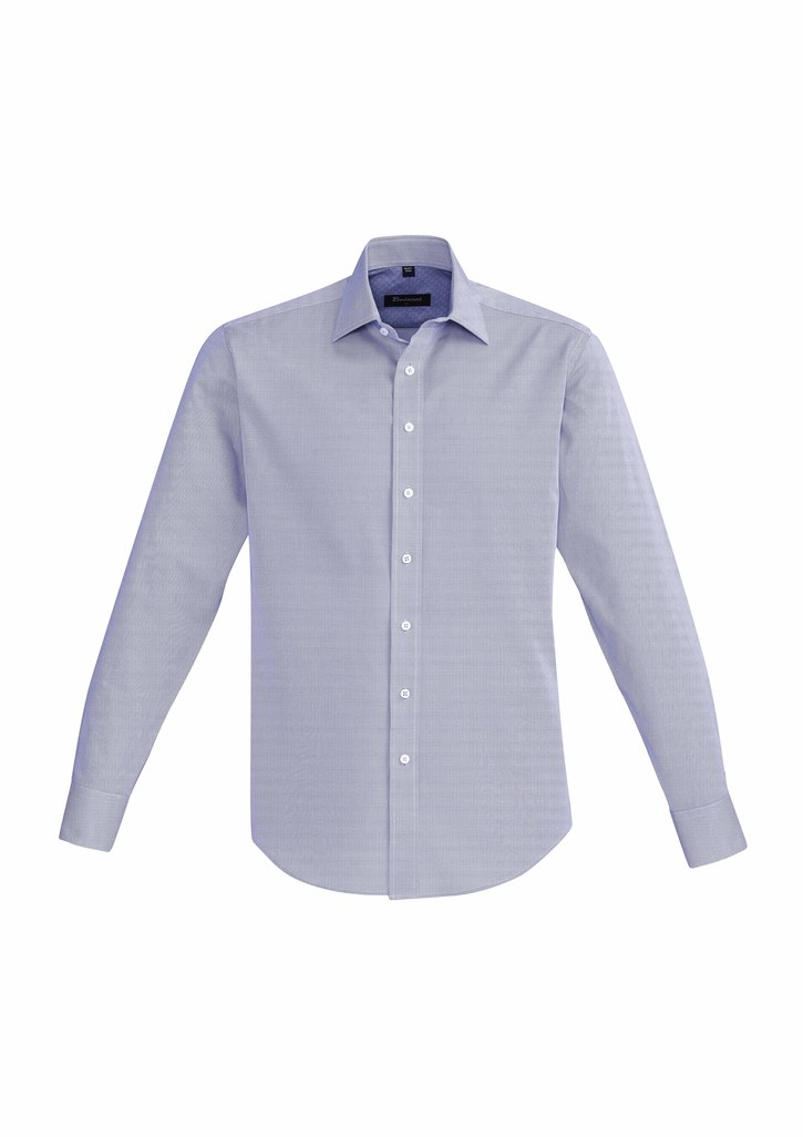 SHIRT MENS HUDSON L/S BLUE 2XL -
