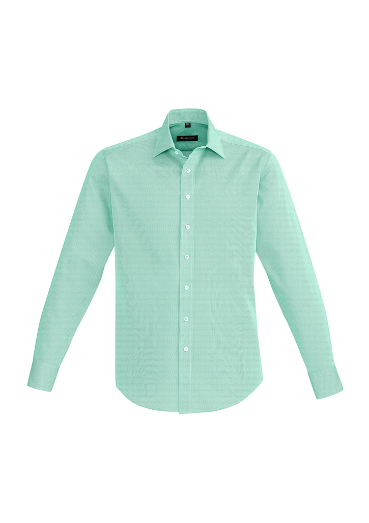 SHIRT MENS HUDSON L/S GREEN 2XL -