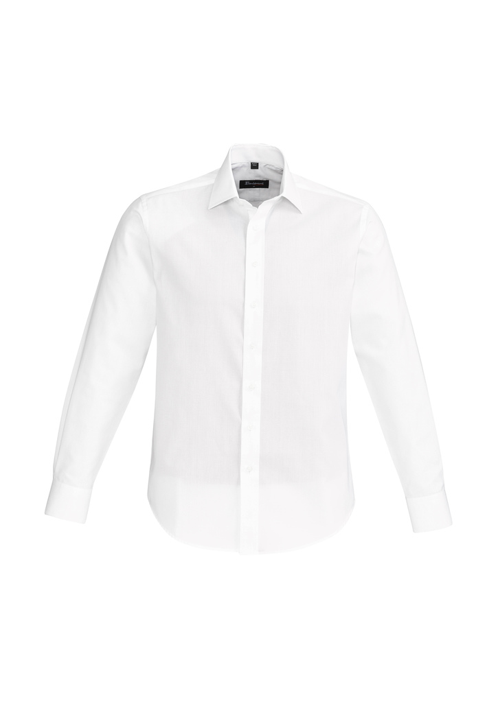 SHIRT MENS HUDSON L/S WHITE 2XL -