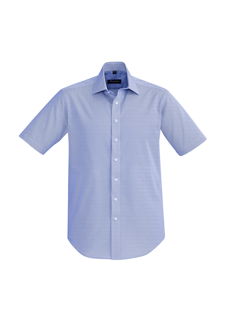 SHIRT MENS HUDSON S/S BLUE 2XL -