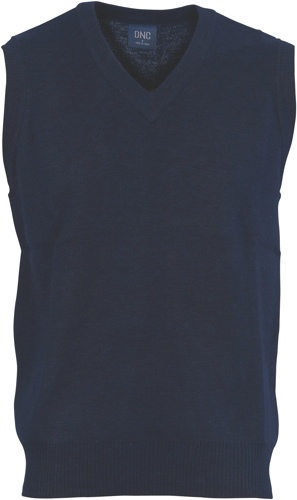VEST KNITTED V NECK NAVY 2XL