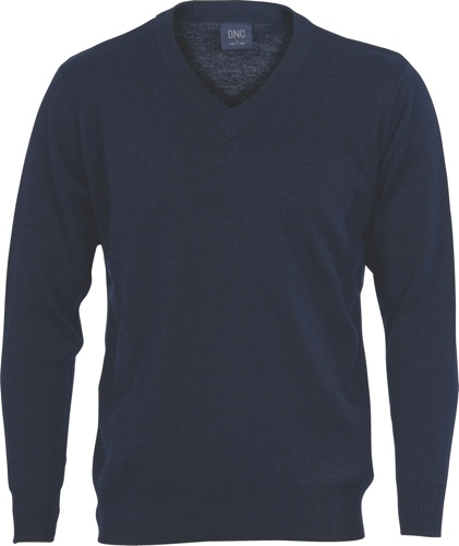 JUMPER WOOL BLEND NAVY SIZE 2XL