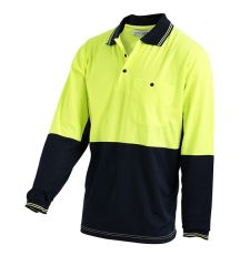 POLO LIGHT WEIGHT O/N L/S SIZE 3XL U/A VENTED 180G COTTON BACK