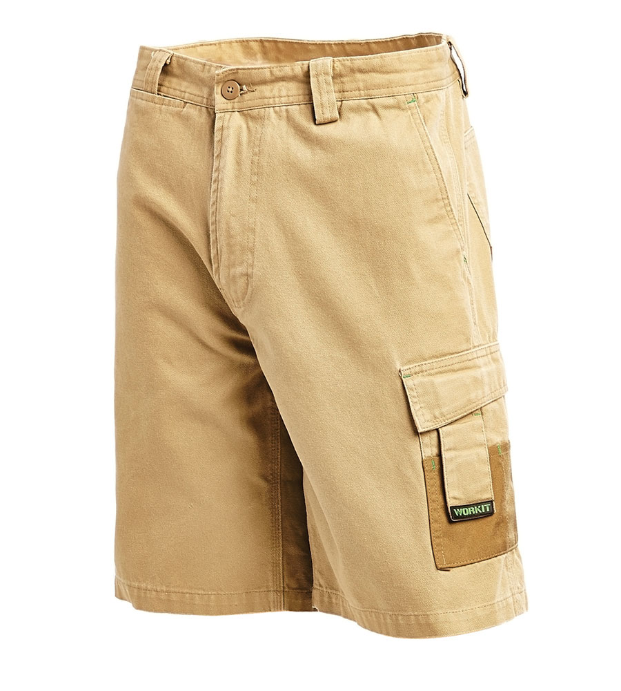 SHORTS UTILITY COT/ CANVAS KHAKI 102R COTTON / CANVAS 340G