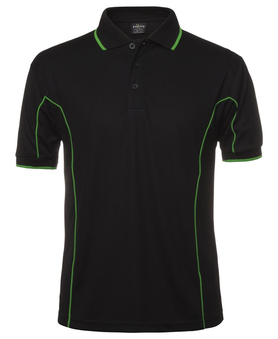 POLO PODIUM BLACK GREEN  L -