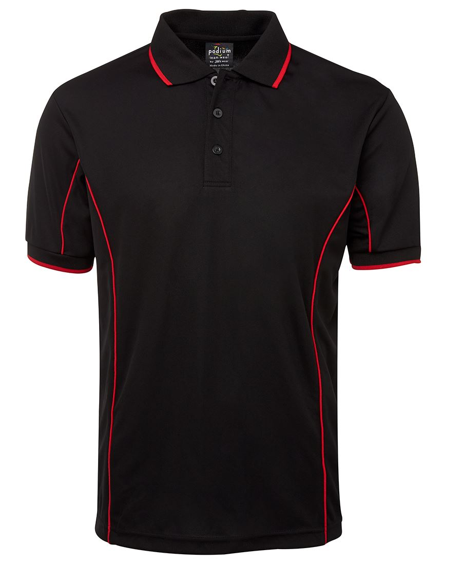 POLO PODIUM BLACK RED 2XL -