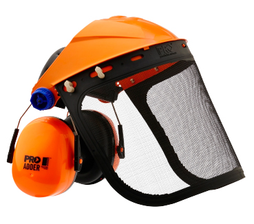 EARMUFF WITH BROWGUARD & MESH VISOR CLASS 5 32db COMPLETE