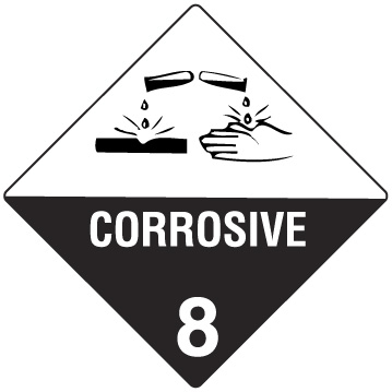 SIGN CORROSIVE 8 - S/A