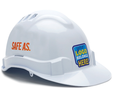 HARD HAT VENTED V6 WHITE    CABLEWISE 2 COLOUR