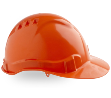 HARD HAT VENTED V6 ORANGE PUSHLOCK HARNESS
