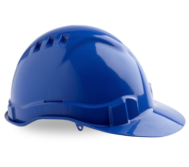 HARD HAT VENTED V6 BLUE PUSHLOCK HARNESS