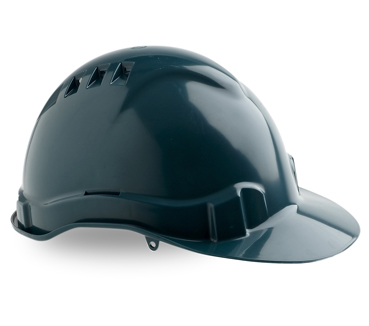 HARD HAT VENTED V6 GREEN PUSHLOCK HARNESS