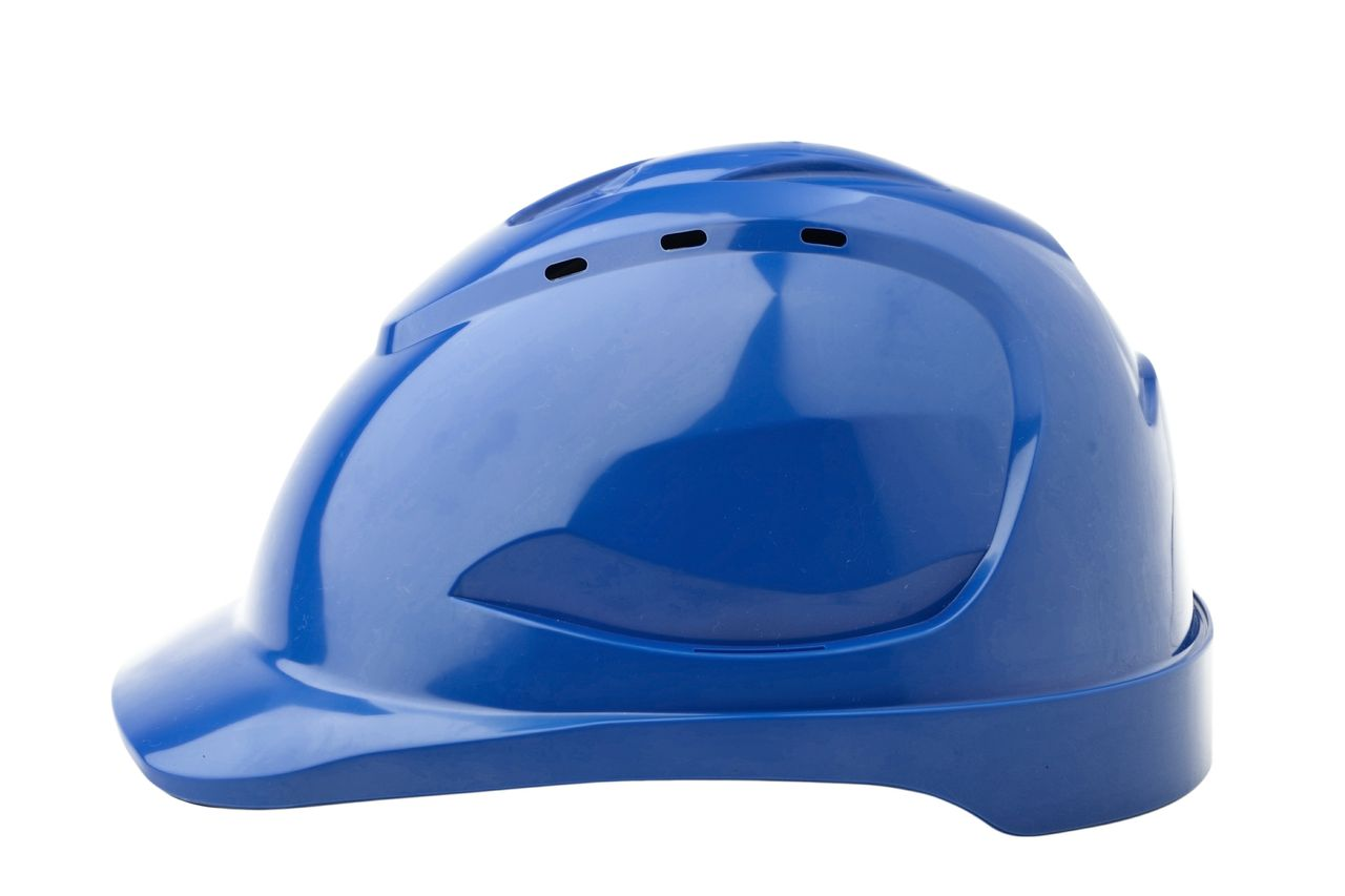 HARD HAT V9 VENTED BLUE PUSHLOCK HARNESS