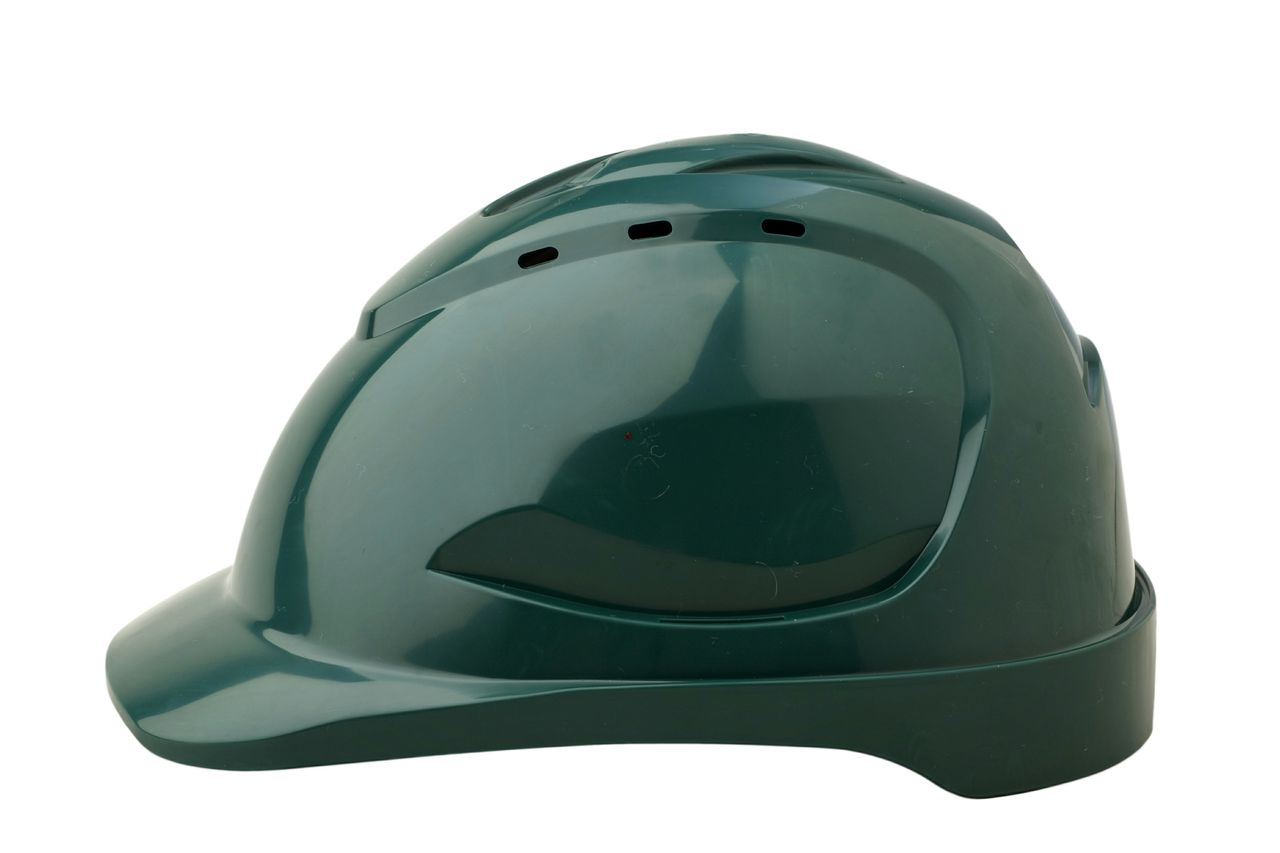HARD HAT V9 VENTED GREEN PUSHLOCK HARNESS