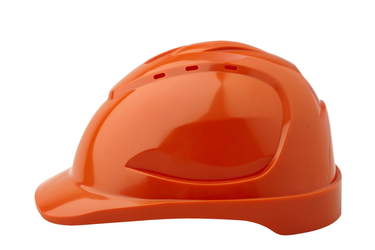 HARD HAT V9 VENTED ORANGE PUSHLOCK HARNESS