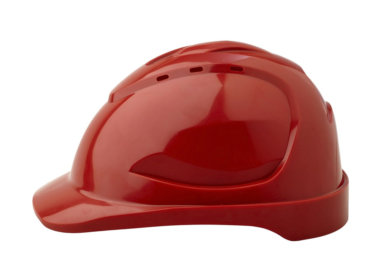 HARD HAT V9 VENTED RED PUSHLOCK HARNESS