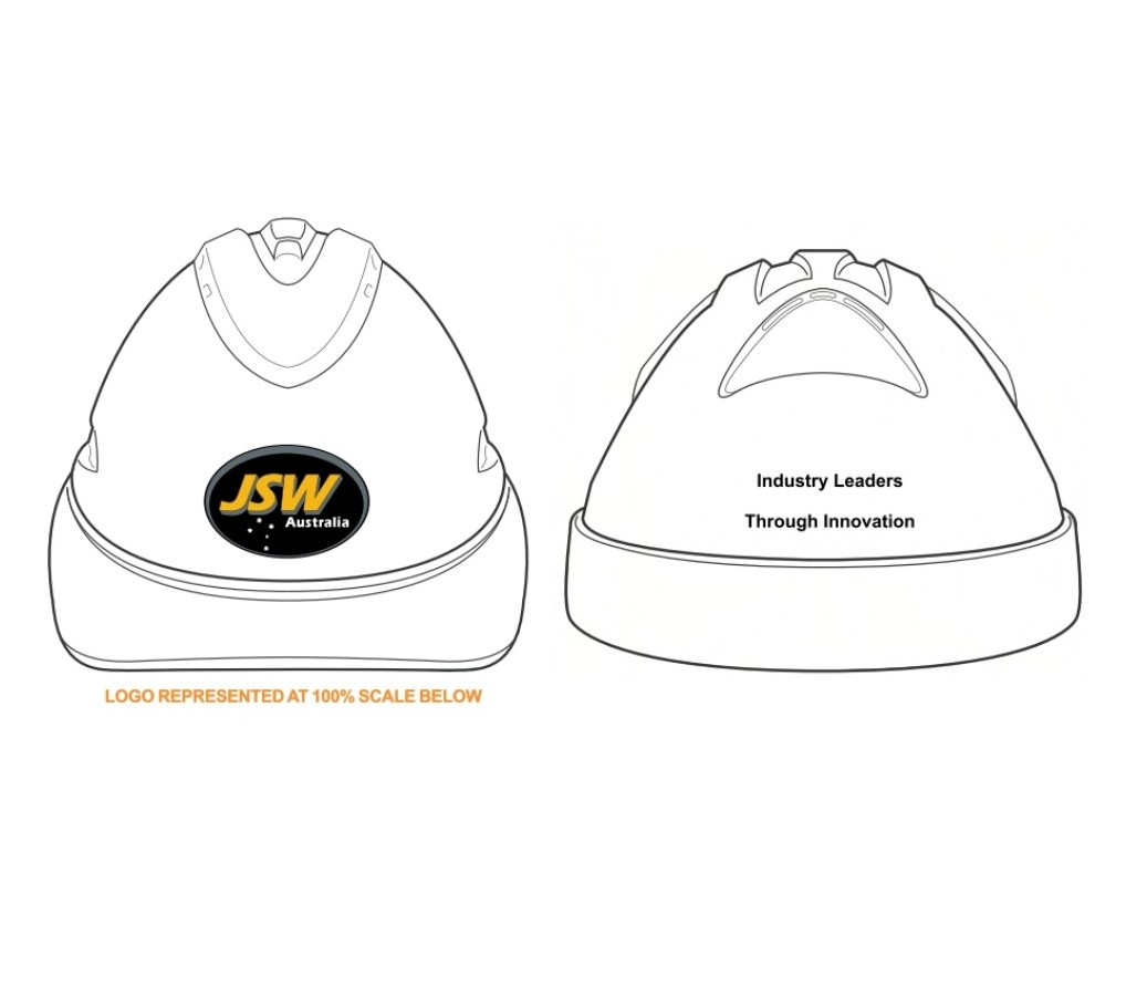 HARD HAT V9 WHITE JSW 3 COLOUR & SINGLE COLOUR BACK