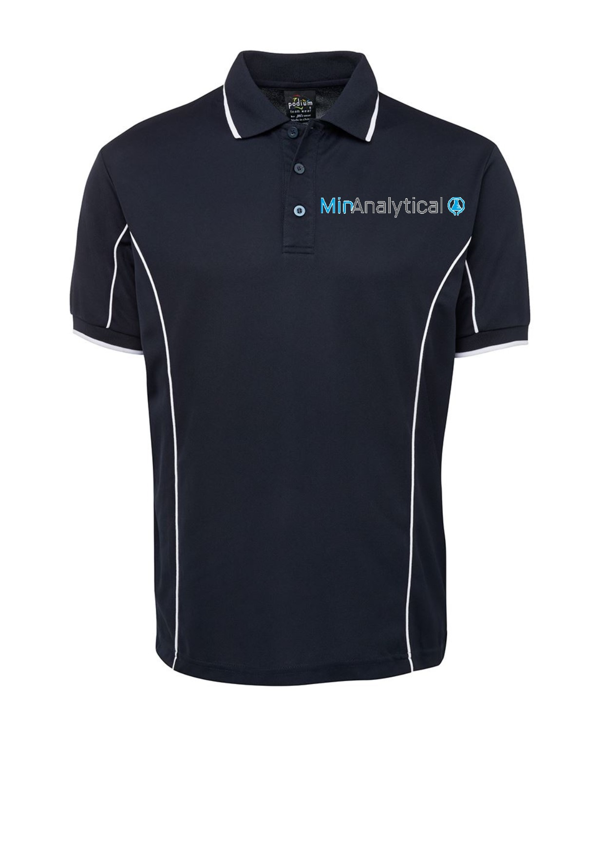 PODIUM POLO NAVY WHITE 2XL MINANALYTICAL LOGO
