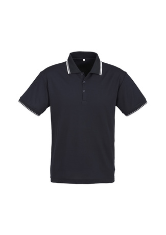 POLO MENS CAMBRIDGE NAVY/WHITE 2XL -50% COTTON 50% BIZCOOL