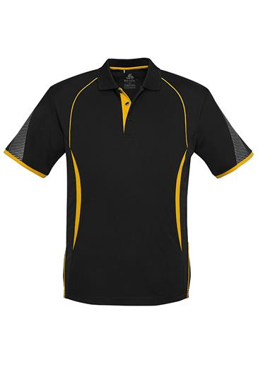 POLO MENS RAZOR BLACK/GOLD S2XL -