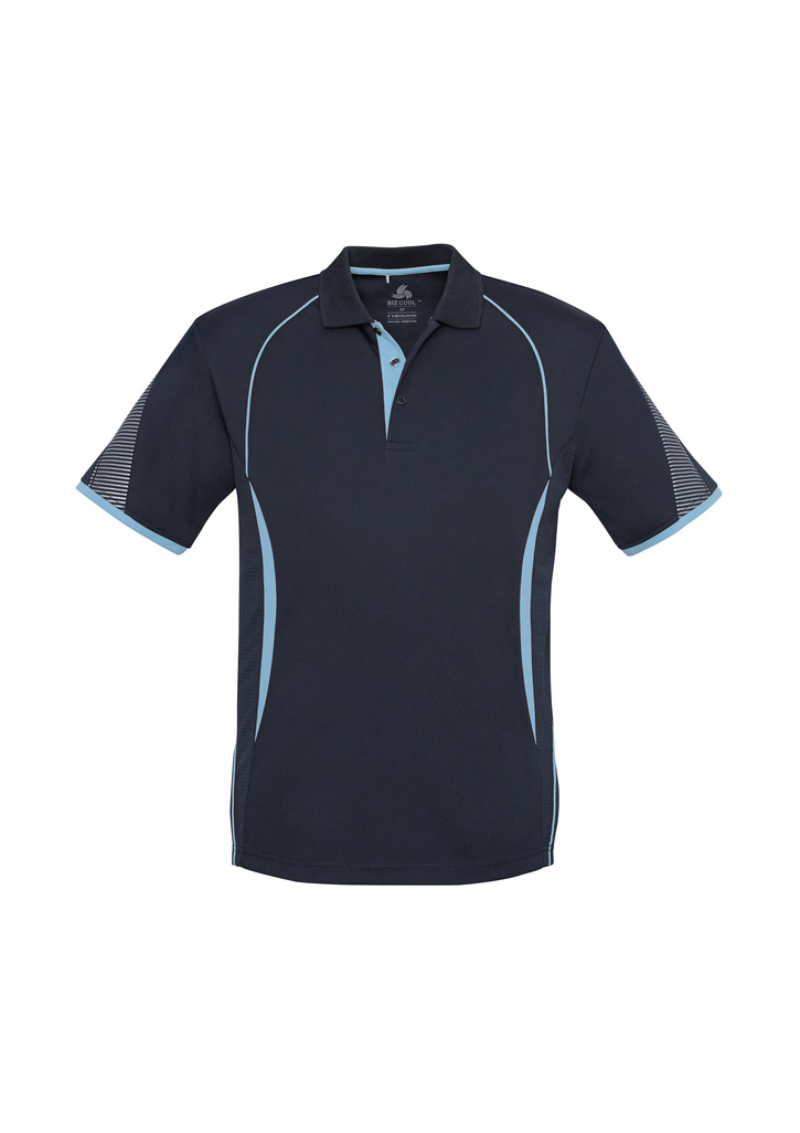 POLO MENS RAZOR NAVY/SKY S3XL -