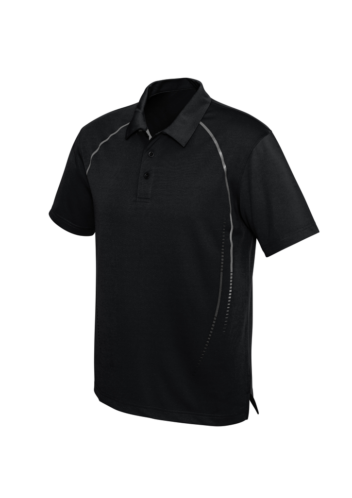 POLO MENS CYBER BLACK /SILV 2XL WELL CONTROL & INTEGRATED LOGO