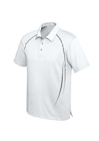 POLO MENS CYBER WHITE/SILVER 2XL - 155GSM BIZCOOL FABRIC
